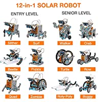 Giochi Per Ragazzi Di 8-12 Anni Maschio Giocattoli Robot Solare Educativi 12 in 1 ,Esperimento di Scienza Dell'edilizia Fai-da-te Per Bambini di Età Compresa Tra 8 e 12 Anni Robot Giocattolo #5