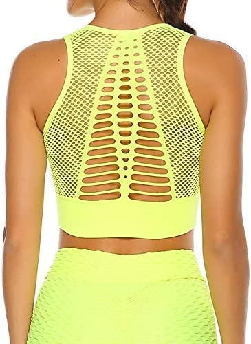 SEASUM Women s Longline Sport Bra Seamless Yoga Crop Top Medium Low Support Workout Bra XL product image
