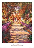 1art1 35850 Claude Monet - Il Viale Del Giardino Kunstdruck