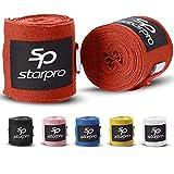 Starpro mexicanas Vendas de Mano Thump n 'Loop |Vendajes de algodón Tejido con Carbono|Colores múltiples| para Boxeo Muay Thai Kickboxing Karate Lucha Artes Marciales Gimnasio Fitness 2.55m 3.5m 4.5m