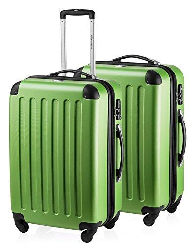 HAUPTSTADTKOFFER - Spree - 2er Koffer-Set Hartschale Matt, TSA, 65 cm mit Volumenerweiterung, Apfelgrün