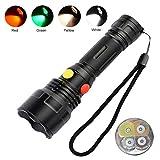 4 Farben in 1 LED-Taschenlampe mit rotem/grünem/weißem/gelbem Licht, BESTSUN-Taschenlampen mit...