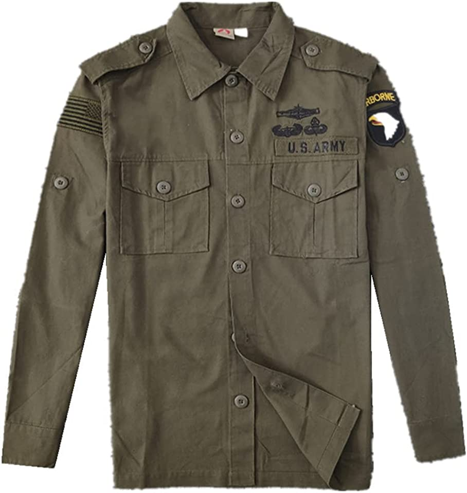 YBRR 101 Airborne Division Tactical Shirt America Military Special Forces Lapel Outdoor Jacket