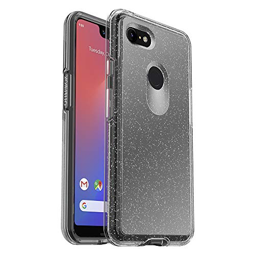 OtterBox Symmetry Clear Series Case for Google Pixel 3 XL - Retail Packaging - Stardust (Silver Flake/Clear)