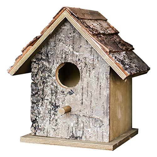 RUIXINLI Casa al Aire Libre de jardín Pájaro de Madera al Aire Libre Alimentador de Pájaro Decoración Regalos Al Aire Libre Granja Pájaro Pájaro Pájaro Avión Casa de Aves Colgando