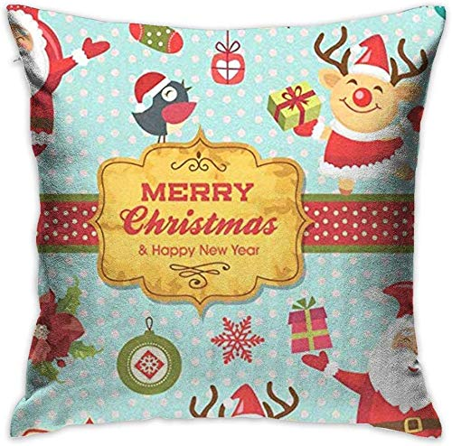 LLeaf Square Throw Pillow Case Throw Pillow Cover Hristmas Characters Decorative Pillow Case Decor Cushion Pillowcase,26x26 inches