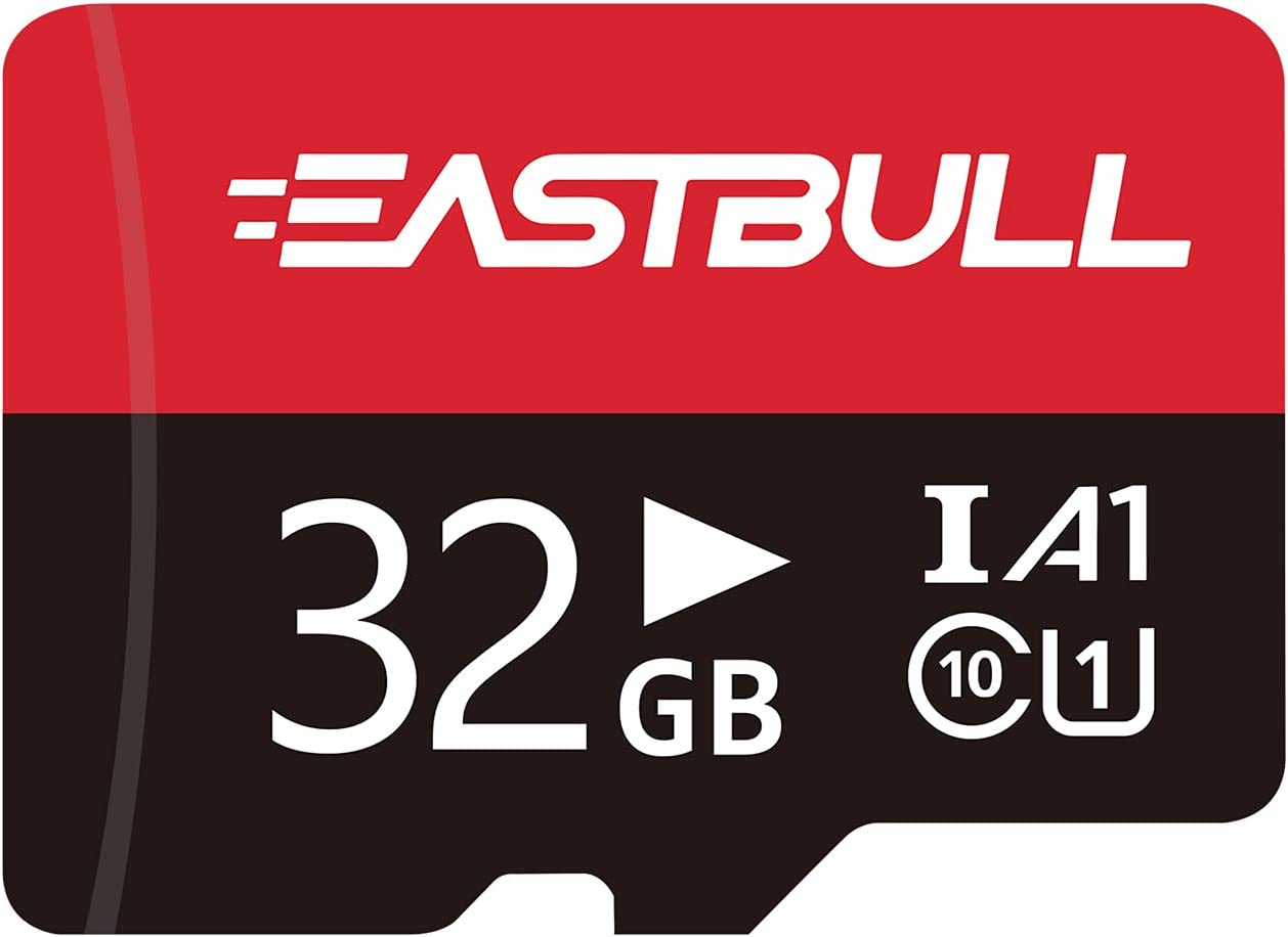 EASTBULL 32GB Micro SD Cards Fast Speed SD Memory Cards 32GB 90MB/s FAT32 Class 10 Micro SD Cards with Adapter (1PCS)