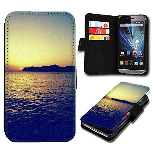 sw-mobile-shop Book Style Wiko Getaway Premium PU-Leder Tasche Flip Brieftasche Handy Hülle mit Kartenfächer für Wiko Getaway - Design Flip SV121