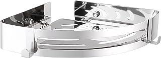 三角ラック コーナーラック シャワーラック 浴室用ラック 304ステンレス製 1段 三角 壁掛け式 粘着性 穴あけ不要 錆びない 洗面所 キッチン 浴室 収納用