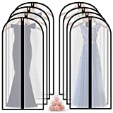 homeminda Garment Bags for Long Dress 8packs 60in Clear Moth Proof Lightweight Breathable