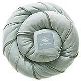 manduca SLING Fular Portabebes  Mint  Mochila Bebe Elastico con Certificado GOTS, Calidad Ecológica, Algodón Orgánico, Para Bebes Pequeños 3,5-15kg (verde menta, 5,10m x 0,60m)