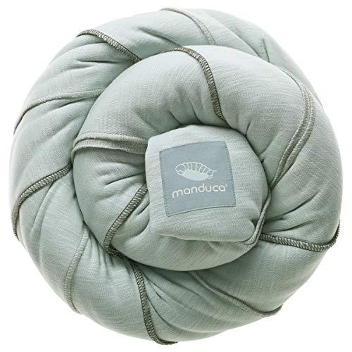 manduca SLING Fular Portabebes > Mint < Mochila Bebe Elastico con Certificado GOTS, Calidad Ecológica, Algodón Orgánico, Para Bebes Pequeños 3,5-15kg (verde menta, 5,10m x 0,60m)