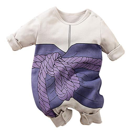 RELABTABY Lindo bebé niña mameluco bebé recién nacido anime mono niño Halloween Cosplay traje ropa, Púrpura/Ombre Force., 0-3 meses