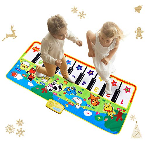 Reditmo Music Piano Mat for Kids, Musical Keyboard Play Mat Collapsible, Educational Toys with Small Animal Calls, Suitable for Children Baby Toddlers Little Boy Girl