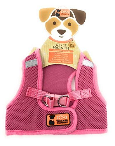 The Dog Walker Medium Style Harness ~ PINK