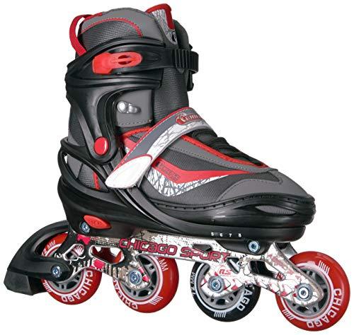 Chicago Skates Adjustable Red Inline Skates - Youth Medium (Adjusts Sizes 1-4)