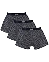 Mens 3-Pack Boxers, Black and Gray, Medium - Silky and Smooth Material - Nylon Spandex Wicks Moisture