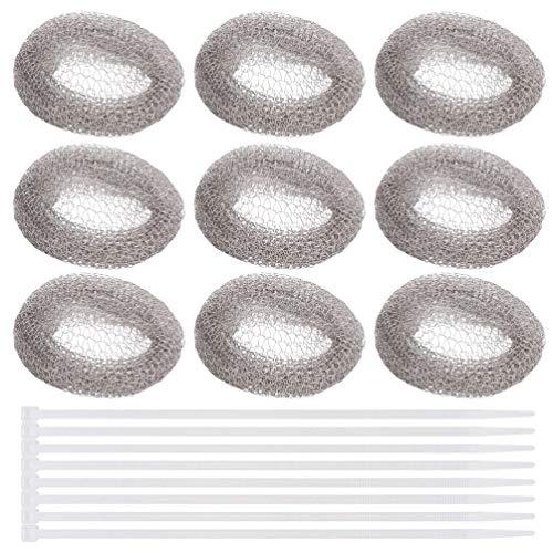 FRCOLOR 30 Piezas de Lavadoras de Pelusas Enredadera de Malla de Lavado de Ropa Filtro de Manguera de Drenaje Filtros de Pantalla de Manguera con Bridas para Cables para Lavadora Casera