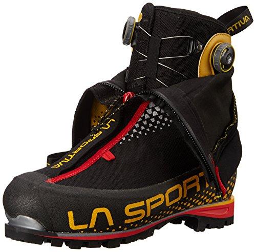 La Sportiva G2 SM Men's Mountain Climbing Mountaineering Boot, Black/Yellow, 42