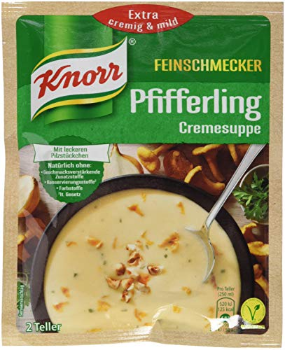Knorr Feinschmecker Pfifferling Cremesuppe, 2 Teller, 18er Pack