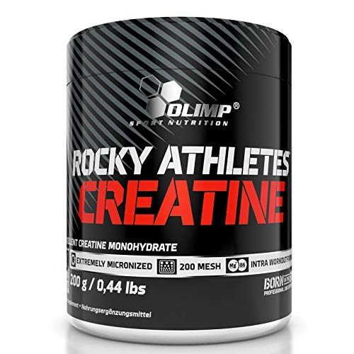 Rocky Athletes CREATINE MONOHYDRATE 200g - Anabolic Food Supplement with Magnesium and Vitamin B6