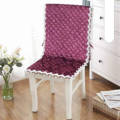 GLF Cojines de Silla de Cocina, cojín de Silla de una Pieza con Lazos Antideslizantes Cojín de sillón para Mecedora Cojines de jardín de terraza-Borgoña-c 45x145 cm (18x57 Pulgadas)