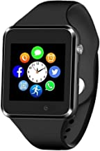 Sazooy Smart Watch Bluetooth Touchscreen Smart Wrist Watch Smartwatch Phone Fitness Tracker with SIM SD Card Slot Camera Pedometer Compatible iOS iPhone Android Samsung for Women Kids Men (Black)