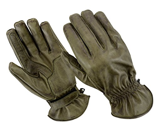 BOSmoto motorhandschoenen Racing Kevlar gewaxt lederen handschoenen wax (XL, was XX-Large groen