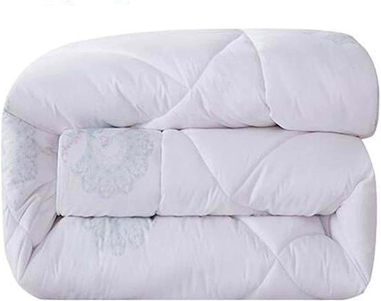 Quilt Comforter Quilted Double Hypoallergenic Breathable for All Season Fluffy Super Soft Quilted Comforter with Corner Tabs (Size   180cmx220cm2.5kg)