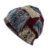 Feytuo Casquette de Bonnet écharpe imprimée Lettre Femmes Casaul Outdoor Convertible Chapeaux Coupe-Vent