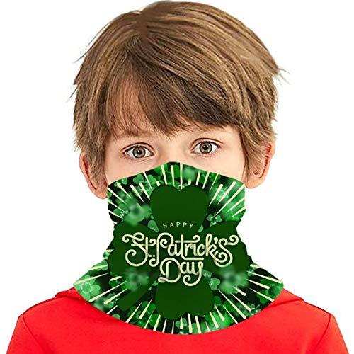 ZVEZVI Cartel de felicitación del día de San Patricio feliz con cubierta de bufanda de cara 3d Deporte al aire libre Correr Niños Cubierta de cara Variedad Toalla de cara Diadema para el cuello