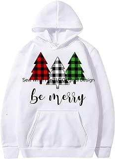 Holzkary Couple's Graphic Print Hoodies Trendy Long Sleeve Sweatershirts with Kangaroo Pocket