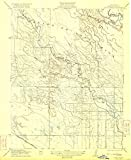 YellowMaps Delta Ranch CA topo map, 1:31680 Scale, 7.5 X 7.5 Minute, Historical, 1922, 19.8 x 16.2 in - Paper