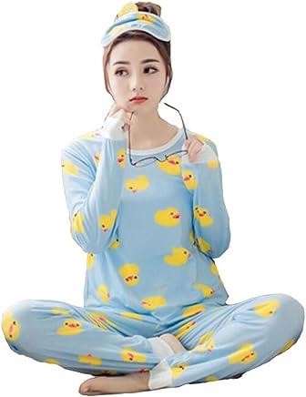 03034ed872 Big Girls Teen Girls Women s Yellow Duck Long Sleeve Pajama PJ Set