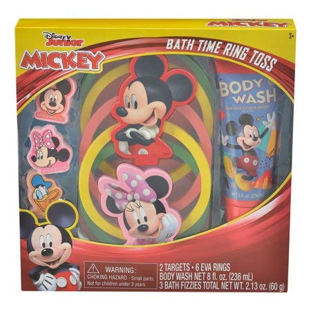 Mickey Mouse Bath Time Ring Toss Game and Body Wash Set