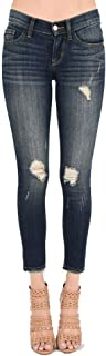 Anette! Cropped Frayed Ankle Skinny Denim