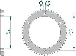 Compatible avec//Remplacement pour YZ 125-250-YZF WRF 250-400-426-450-COURONNE ALU 49 DENTS-BLEU//NOIRE-1210-1480