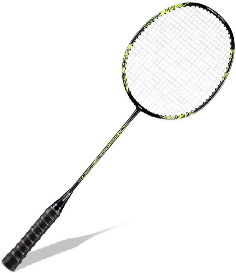 CZ-ING Unisex Adulto Badminton Racchetta In Fibra di Carbonio Albero Badminton Racchette Professionali Ad Alta Tensione Stringa Badminton Racchetta