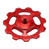Accesorios 2pcs 11T Rueda de Cambios Traseros de aleación de Aluminio de Bicicletas Desviador Trasero Polea de Bicicletas Jockey polea Velocidad de la Bicicleta para MTB (Red)