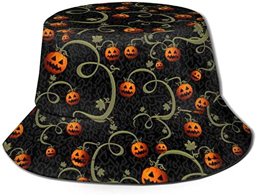 BONRI Unisex Print Eimer Hut Schaf 1 Summer Fisherman Cap-Pumpkins Laternen-One Size
