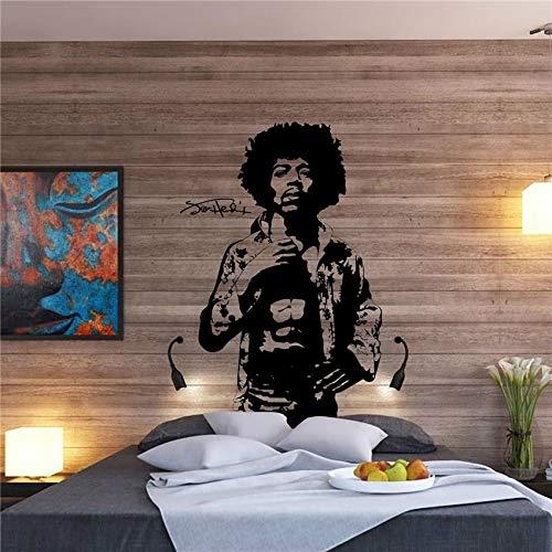 Art Decor Large Jimi Hendrix Body Rock Gitarre Legende Dekor für Kinderzimmer Jungen Wohnzimmer Wandtattoo Wohnzimmer Wandaufkleber Schlafzimmer