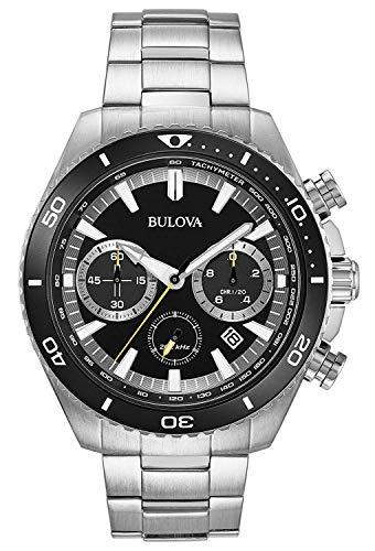 Bulova Orologio Cronografo Quarzo Uomo con Cinturino in Acciaio Inox 98B298