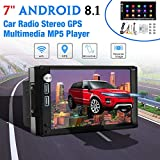 2 Din autoradio lettore Stereo MP5 / Andnoid 8.1 / GPS/Wifi/Mirror Link/Bluetooth/Touch screen da 7 pollici/Dual USB/Dual AUX/SD/FM