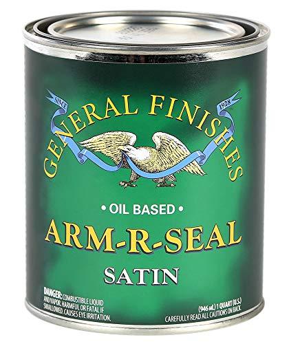 General Finishes Arm-R-Seal Oil Based Topcoat, 1 Quart, Satin