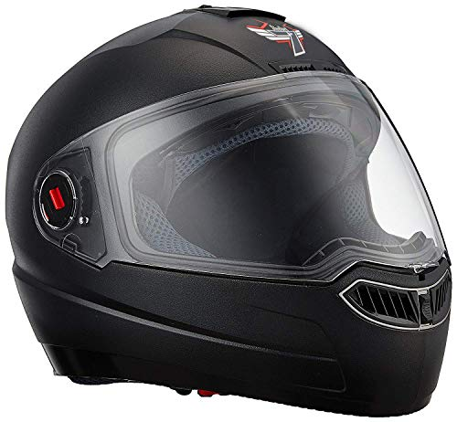 Steelbird SBA-1 Classic 7WINGS Full Face Helmet with Plain Visor (Large 600...