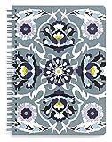 Vera Bradley Grey Mini Spiral Notebook, College Ruled Paper, 8.25' x 6.25' with...