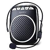 Amplificador de Voz portatil (W) con un microfono para guías Maestros Profesores Artistas animadores promotores de Ventas,etc (BLACK)