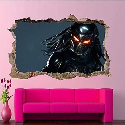 Aliens Creature Predator pegatinas de pared póster artístico calcomanía Mural decoración del hogar Póster Arte 3D Mural 50x70cm
