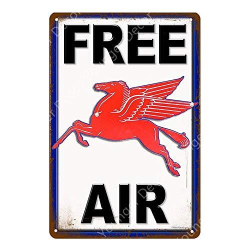 Shovv Air Free benzine-motorolie, decoratie voor motorfiets, auto, garage, winkel, decoratie, muur, kunst, vintage, van metaal