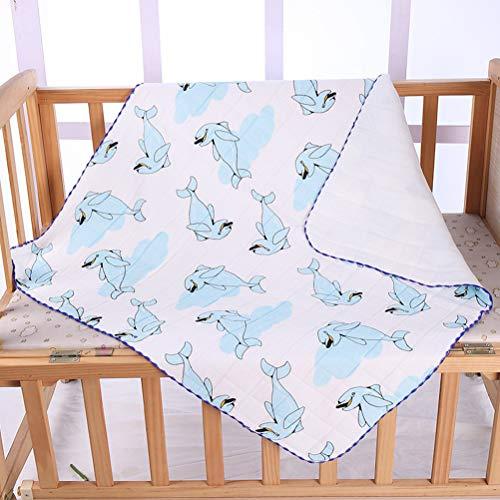 LGYKMU Neugeborene Baumwollsteppdecke Baby Frühling Und Herbst Paket Einzelschlafsack Quilt Baby Quilt Infant Wrap 2 Stück,Dolphin,85 * 85CM